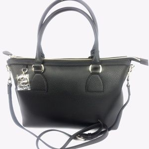 Gucci Charm Zip Top Leather Tote w/Strap #449659